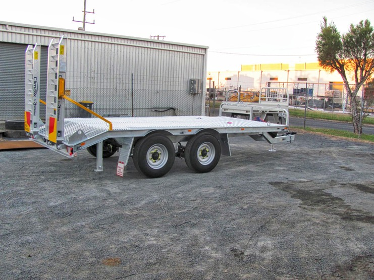 galvanised machinery trailer